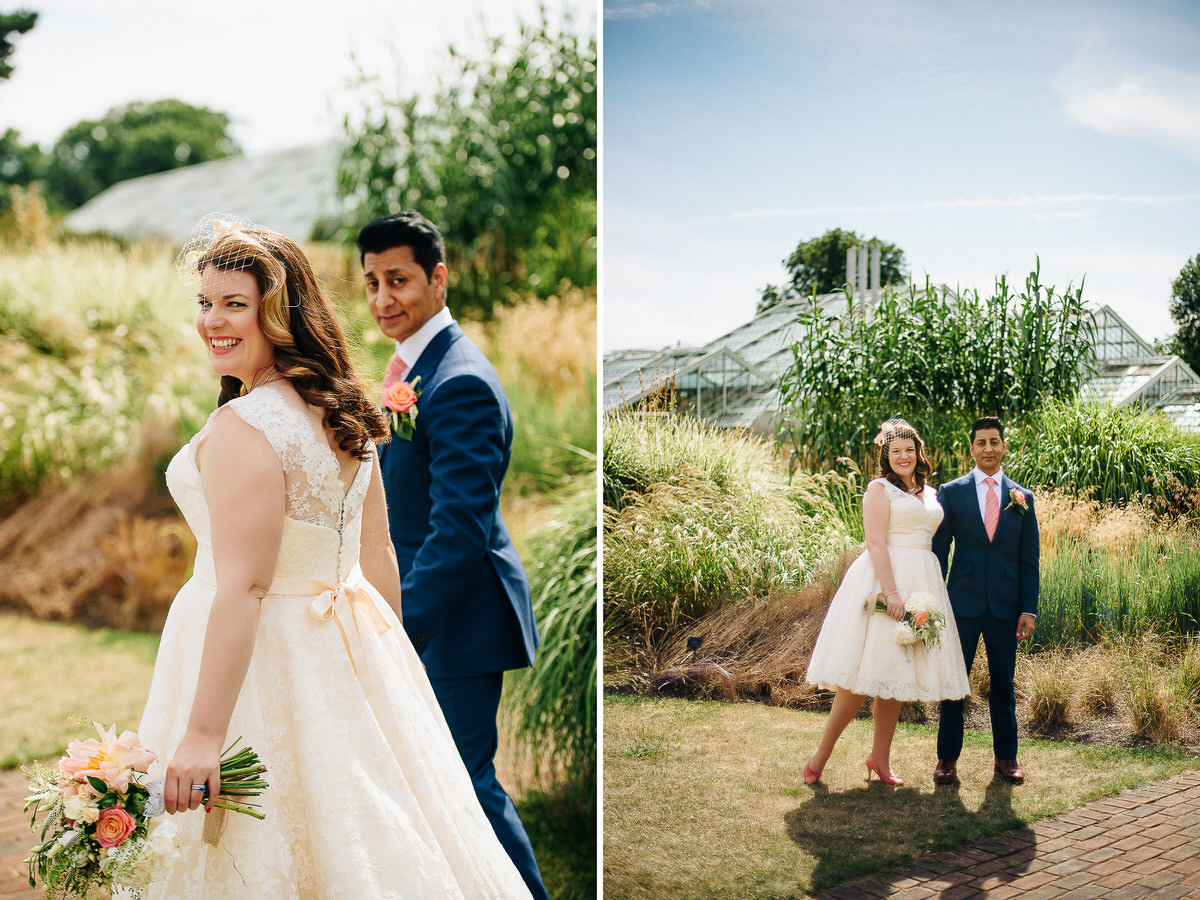 Kew Gardens wedding portrait
