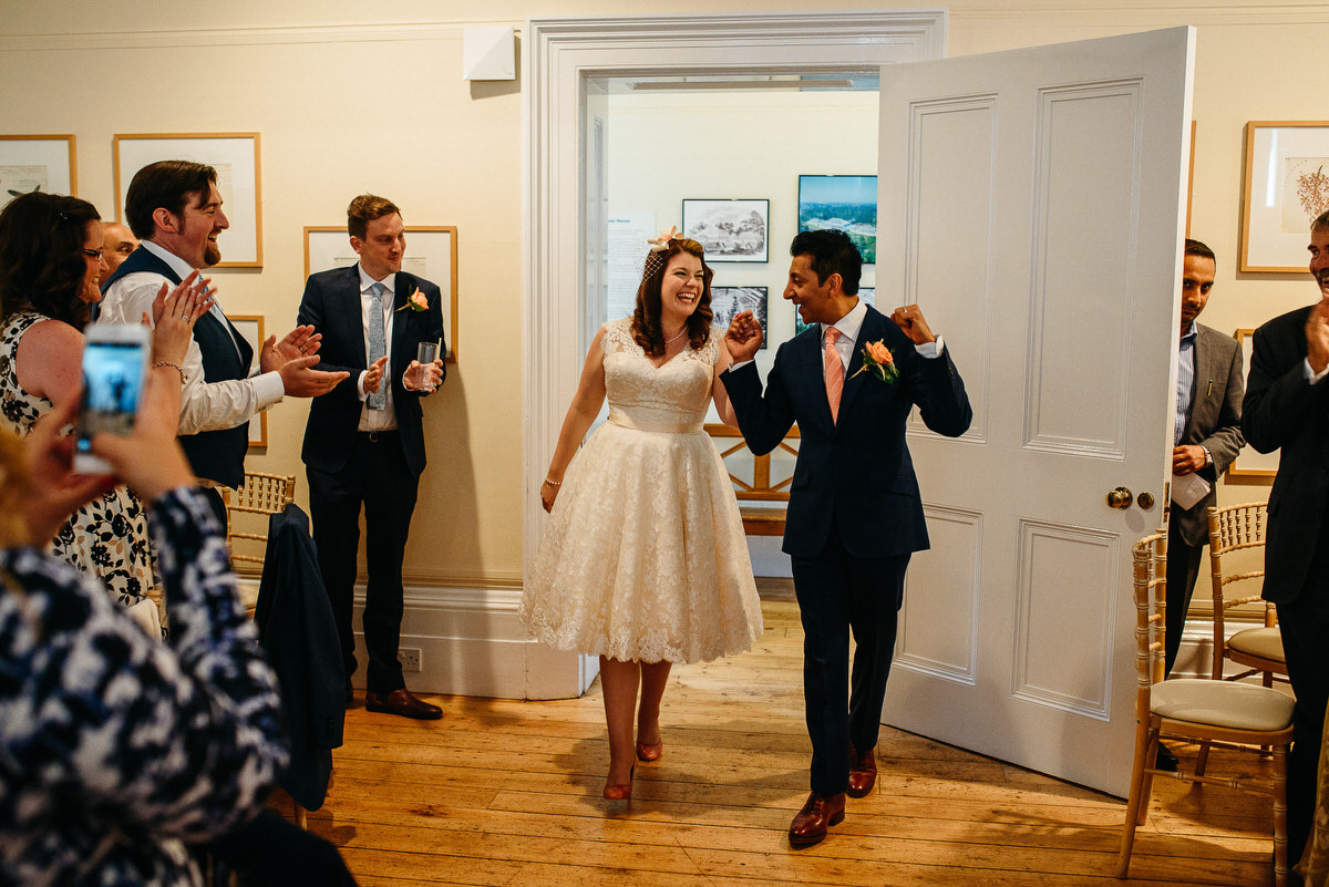 documentary wedding at Kew Gardens